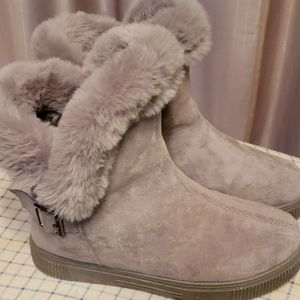 Bamboo Faux Shearling Snow Booties